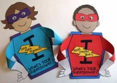 I Learn!  What's Your Superpower?  Writing craft booklets perfect for back to school or end of year open house! Students write about their goals and accomplishments and how they  developed their learning superpowers! $