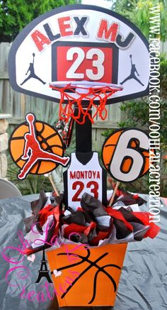 Jordan Basketball Party Centerpiece