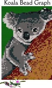 Koala Bead Graph : Beading Patterns and kits by Dragon!, The art of beading.