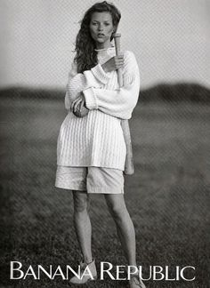 Banana Republic 1992 - Kate Moss by Bruce Weber