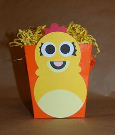 Chica the Chicken Inspired Favor Bucket or Centerpiece