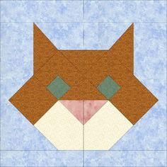 (7) Name: 'Quilting : The Cat - Paper Pieced Block