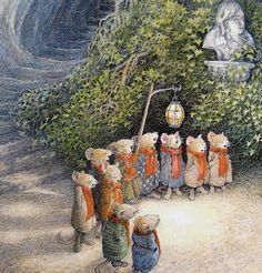 ...little field mice Christmas caroling...Wind in the Willows - Inga Moore