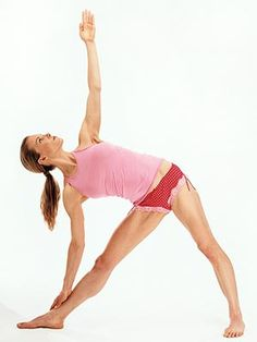 ~Triangle Pose ~ fir some reason this one took me awhile to master. It's difficult to keep your torso/spine in the correct alignment.