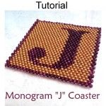 Monogram J Coaster PDF Beading Pattern