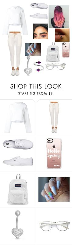 """""""Untitled #116"""" by mehqueen ❤ liked on Polyvore featuring Golden Goose, Vans, Casetify, JanSport, Gioelli and Music Notes"""