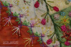 Deep Pink Oyster Stitch - Lisa P Boni
