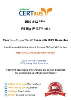 Candidate need to purchase the latest ExamExpress EE0-513 Dumps with latest ExamExpress EE0-513 Exam Questions. Here is a suggestion for you: Here you can find the latest ExamExpress EE0-513 New Questions in their ExamExpress EE0-513 PDF, ExamExpress EE0-513 VCE and ExamExpress EE0-513 braindumps. Their ExamExpress EE0-513 exam dumps are with the latest ExamExpress EE0-513 exam question. With ExamExpress EE0-513 pdf dumps, you will be successful.