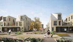 Alison Brooks Architects _ North West Cambridge Development _ Rendering Secondary Street 1