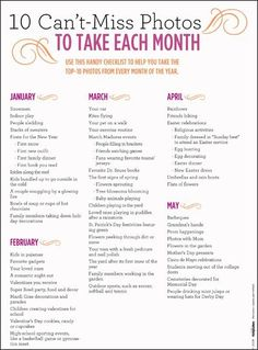 printable photography checklist