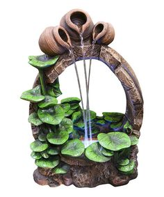 Loving this Barrel Pot LED Fountain on #zulily! #zulilyfinds
