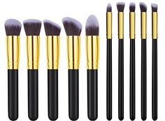 CoolingTech Makeup Brushes Set 10Pieces *** You can find more details by visiting the image link.