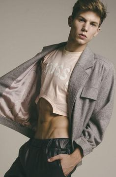 men's fashion & style — Federico Sarandon by Diego Fierce Foto Fashion, Mens Fashion, Mens Crop Top, Half Shirts, Young Fashion, Cute Gay, Mens Trends, Good Looking Men, Male Models