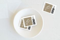 Golden Peace Holiday Stamps by Roopali at minted.com