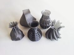 Five Vases by davidmus  http://thingiverse.com/thing:305440
