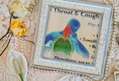 "#CrossStitchedPhotoinFrame What Style will be the correct style for your #DigitalPublication? #PhotoLab #NewReality #Publication #SoreThroat #Tonsillitis #BoundOxygen – Please #Follow and start a new board ""Publication Ideas"" and Pin all the Styles you find on my Pinterest site – as they tell you the name #... of the style I used to produce each look."