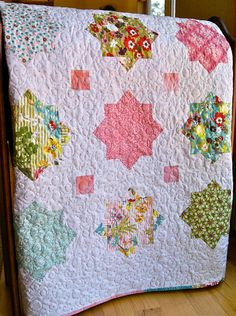 Beautiful!  Spring Quilt Hello Luscious Fabric Throw Lap Size by PiecesOfPine, $245.00