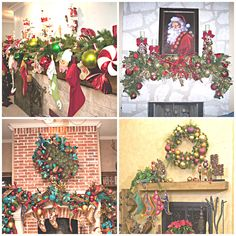 Christmas Decorating-Mantle Many Merry Ways. Great ideas from Show Me Decorating