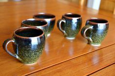 Black Porcelain Coffee Cup Set - Caldwell Pottery