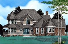 House Plan 68646 | Victorian Plan with 3650 Sq. Ft., 4 Bedrooms, 4 Bathrooms, 3 Car Garage