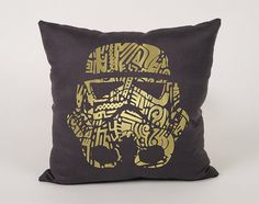 Stormtrooper Cotton Throw Pillow Cover  16x16 18x18 by Daneeyo