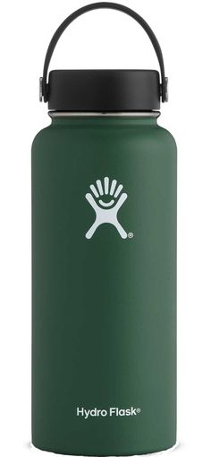 The large capacity on this Hydro Flask Wide-Mouth 32 oz. vacuum water bottle is perfect for all-day hydration (including ice cubes) or bringing hot chocolate to share with friends on a showshoe hike. Hydro Flask Hawaii, Hydro Flask 40 Oz, Hydro Flask Water Bottle, Insulated Water Bottle, Green Water Bottle, Cute Water Bottles, Best Water Bottle, Coffee Flask, Ice Cubes