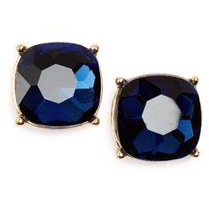 Junior BP. Faceted Stone Stud Earrings ($12) ❤ liked on Polyvore featuring jewelry, earrings, montana, glass jewelry, glass earrings, stud earrings, post earrings and gold tone jewelry