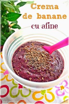 Crema de banane cu afine Baby Food Recipes, Cooking Recipes, Vegetarian Recipes, Healthy Recipes, Healthy Foods, Tasty, Yummy Food, Raw Vegan, I Foods