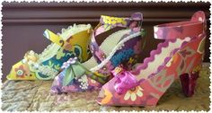 So in love with these cards...Vera Bradley Inspired Paper High Heels - Set of 3!