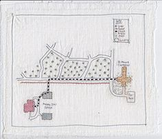 Anne Biss. Embroidery and maps, two of my favourite things