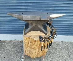 Double Horn 500 lb Blacksmith Anvil with Peddinghaus Forming Hammers Stakes   eBay
