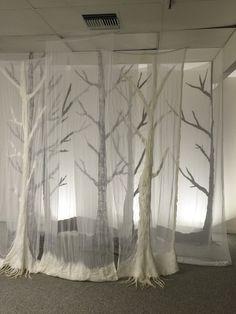 Ghost Forest, a nuno felt installation by Patti Barker 2016