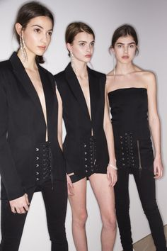 Anthony Vaccarello Fall 2016 Ready-to-Wear Fashion Show Beauty Runway Fashion, High Fashion, Fashion Show, Fashion Looks, Fashion Design, Camille Hurel, Saint Laurent, Show Beauty, Prom Dresses 2016