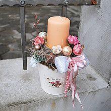 Svietidlá a sviečky - Vianoce v provensálskom štýle - 4757354_