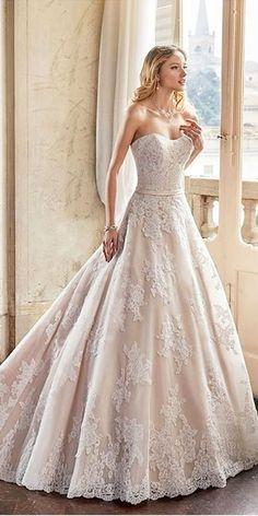 Wedding Dresses With Gorgeous Sweetheart Neckline ❤ See more: http://www.weddingforward.com/sweetheart-wedding-dresses/ #weddings
