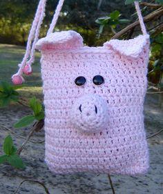 Cutest Little Pig Purse Crochet Cotton Amigurumi on etsy
