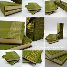 Made-by-May.de  Grünes Schlangenpapierbuch
