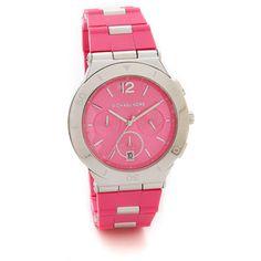 Michael Kors Wyatt Watch - Silver/Pink