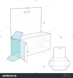 Shelf Box With Die Cut Layout Stock Vector Illustration 334067525 : Shutterstock