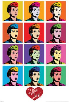 I Love Lucy (Pop Art) TV Poster