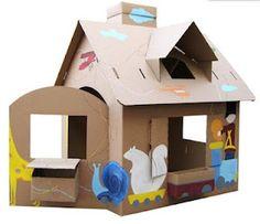Casa per bambole e mini- cucine in cartone- casita de cartón