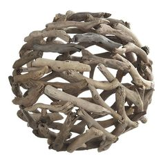 I was walking through Crate and Barrel a while ago and this driftwood ball caught my eye. (If you don't already know, I am obsessed with...