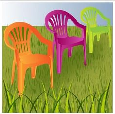 How to paint plastic garden chairs - Garden Plastic Garden Chairs, Acrylic Chair, Vertical Garden Design, Balkon Design, Painting Plastic, Outdoor Chairs, Outdoor Decor, Porch Chairs, Tips & Tricks