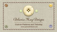 Country Style Stitching and Buttons Tailoring Seamstress Business Cards http://www.zazzle.com/stitching_and_buttons_tailoring_seamstress_double_sided_standard_business_cards_pack_of_100-240114061299219770?rf=238835258815790439&tc=GBCSewing1Pin
