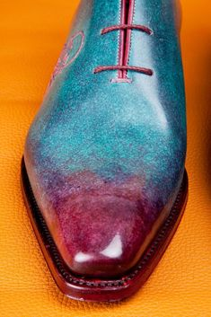 Three Tier Blue WholeCut Master Ivan The Shoe Patine Mens Casual Leather Shoes, Mens Shoes Boots, Shoe Boots, King Shoes, Gentleman Shoes, Mens Fashion Shoes, Dream Shoes, Hot Shoes, Luxury Shoes