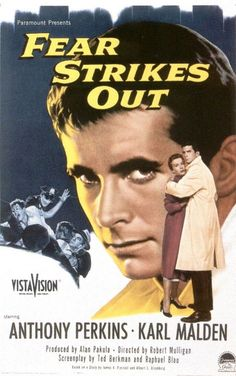 """An Unsettling true movie """"Fear Strikes Out"""" 1957.  Jimmy Piersall pro Baseball player for the Boston Red Sox has a Nervous Breakdown on the Field.  Anthony Perkins is great."""
