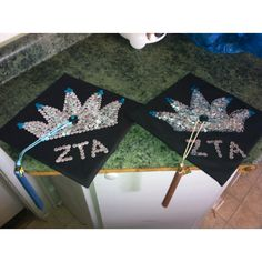 Gamma Xi ZTA's Spring 2012 graduation caps. We're always wearing our crowns!