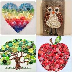 Button crafts..on heart add cute as a button!