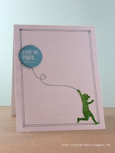 #MOMM one layer Father's Day card using @HeyMamaElephant stamps.