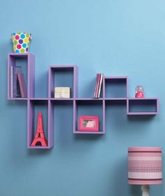 "Wooden Purple Modular Wall Organizing Shelf Storage Home Decor Accent by clickmehome. $25.50. Handy storage with a decorative look. 30"" x 18-1/2"" x 5"". 2-1/2 Feet long. Smart-looking, contemporary wall shelf offers a variety of uses. Display collectibles or framed photos, or store DVDs, CDs or books on this modular wooden unit. Create your own look while solving your storage problems. Assembly required; assembly hardware included. Comes ready to hang. 30"" x 18-1/2"" x 5"". ..."